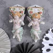 barocke Tütenvasen Porzellan Engel Figuren Amoretten Wandfiguren