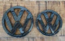 VW Scirocco MK3 Carbon Fibre Black Front & Rear Boot Badge Set [Fits 2008-2014]