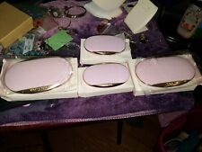 New Mary Kay Pink and Gold Mirrored Refill Compact lot  #4904  and 5455 NIB