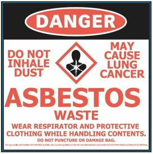 50 heavy duty bags 700 x 1100mm for safe removal of asbestos-Medium, Pack of 50