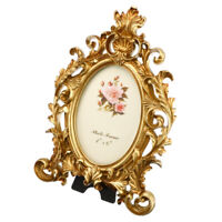 European Retro Resin Elliptic Photo Frames Decorative DIY Photo Frame Pendant