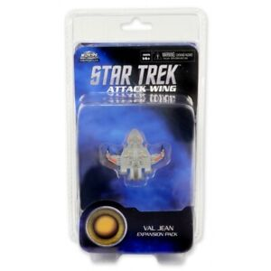 STAR TREK-ATTACK WING - VAL JEAN - EXPANSION PACK-SENT FIRST CLASS - A1