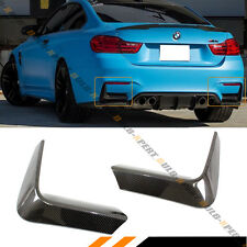 FOR 2015-18 BMW F80 M3 F82 F83 M4 CARBON FIBER REAR BUMPER CORNER VALANCE COVERS
