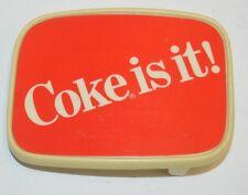 Vintage Hard Plastic Coca Cola Coke Vending Machine Promo Belt Buckle Rare