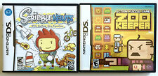 2 GREAT NINTENDO DS PUZZLE GAMES ~ SCRIBBLENAUTS AND ZOO KEEPER ~ COMPLETE!