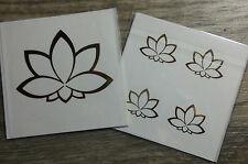 Lotusblüte Symbol Sticker Aufkleber  5er Set  Energiesymbol