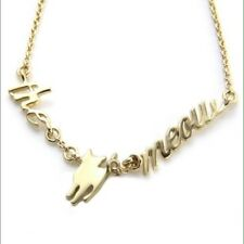 Kate Spade Cat's Meow Necklace NWT Witty Perfect Cat Lover's Gem!