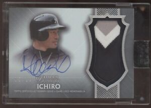 2017 Topps Dynasty Ichiro Suzuki Yankees 3 Color Patch Auto Autograph 5/10