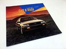 1987 Dodge Colt & Vista Brochure