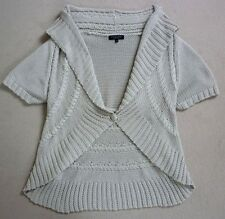 DEBENHAMS COLLECTION BEIGE BOLERO / SHRUG / CARDIGAN SIZE 18