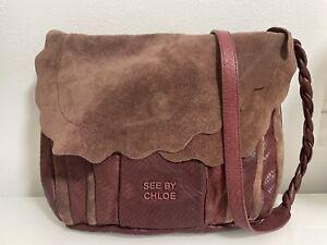 See by Chloe burgundy leather crossbody bag