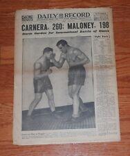October 8, 1930 Boston Daily Record Complete Newspaper-Primo Carnera Jim Maloney