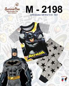 Batman Pyjamas Short Sleeve Top and Long Trousers