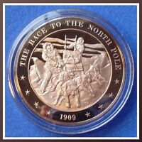 1909 The Race to the North Pole Solid Bronze Medal