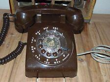 Vintage BROWN ITT Rotary Telephone Works Perfect VINTAGE DIAL PHONE BROWN