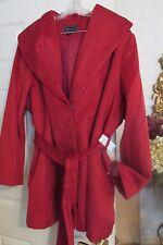 NEW NWT $140 Womens Metaphor Wrap Coat Belted Dress Coat  Red Plus Sz 2X