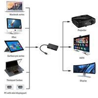 1pc 3in1 Mini Displayport DP Thunderbolt to VGA HDMI DVI Converter Adapter Cable