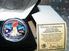 The Morgan Mint Super Bowl XXXV .999 Pure Silver Flip Colorized Coin 1 of 7,500