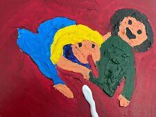 """Expressionismus POP Art Kunst Gemälde: """"Alles Schwanz"""" Artist: FISH"""