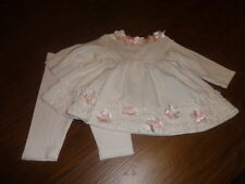 BOUTIQUE BABY BISCOTTI 3M 3 MONTHS TOP AND PANTS W FLOWERS