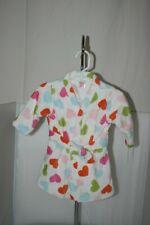 Baby Girls Heart Dot Robe Sz 0-9M 100% Cotton Belt Soft Plush ~ Nwt