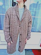 Authentic Vintage 1940s HANDKNITTED Wool Knit Coat Medium/Large