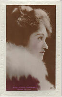 Vintage MISS GLADYS BROCKWELL Silent Actress Embossed photograph postcard 1920