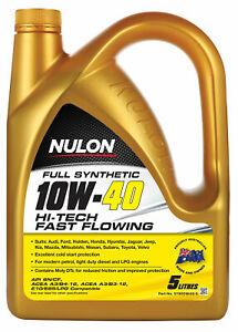 Nulon Full Synthetic Hi-Tech Engine Oil 10W-40 5L SYN10W40-5 fits BMW 1802 1....