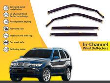 In channel wind deflectors rain guards for BMW X5 E53 2001-20064pc