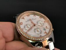 MARC BY MARC JACOBS MBM3106 CHRONOGRAPH 24 HOURS DUAL TIME DAY QUARTZ LADY WATCH