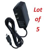 5X Black Premium Micro USB Home / Wall / Travel Charger for Samsung Motorola LG