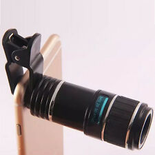 12X Zoom Universal Clip-on Telescope Mobile Phone Camera Lens for iPhone Samsung