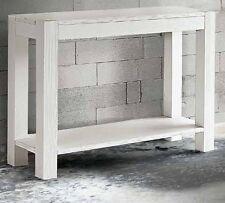 Consolle in Abete Bianco Spazzolato  misura  105x35 H. 75 cm.