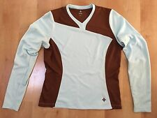Specialized CYCLING JERSEY Women's Long Sleeve Medium Blue Brown MSRP $70