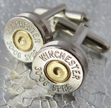30-06 WINCHESTER Bullet Cufflinks Gold Silver Nickel 45 Auto Colt 357 Available