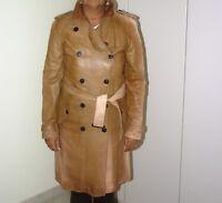 cappotto burberry in pelle, originale