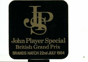 British GP 1984 JPS - original sticker autocollant adhesivo Aufkleber unused