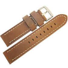 22mm Hadley-Roma MS854 Mens Rust Brown Distressed Leather Watch Band Strap