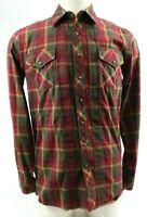 5.11 Men's Casual Tactical Long Sleeve Shirt Sz Small Pearl Snap Plaids Red Tan
