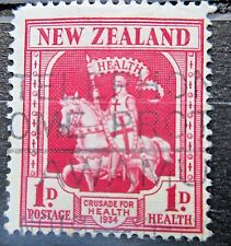 New Zealand 1934 1d Health Stamp. Used.