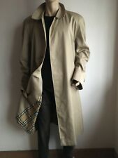 BURBERRY MENS XXL 48- 52 VINTAGE CHECK LINED TRENCH COAT RAINCOAT JACKET MAC