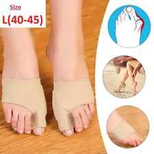 2 X Fabric GEL Toe Bunion Pad Protector Hallux Valgus Corrector Straightener UK