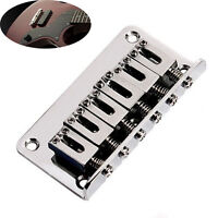 Electric Guitar Parts 65mm Chrome 6 Strings Saddle Hardtail Bridge Top Load