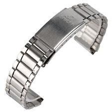 18mm Silver Men Women Stainless Steel Watch Band Strap  Replacement Watchband HQ