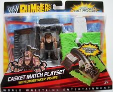 NEW WWE Rumblers THE UNDERTAKER Mini Figure with Casket Match Playset  mattel