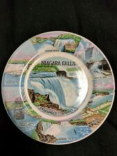 """NIAGARA FALLS 7"""" COLLECTOR PLATE Vintage 1970's M.S. PRODUCTS MADE IN JAPAN RARE"""