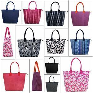 Women Large Printed Canvas Shopper Shoulder Holiday Beach Bag Tote Bag