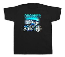 Azul Motocicleta Chopper Honda montañas Tshirts Vintage Custom Chrome la suciedad