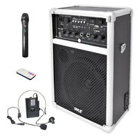 Pyle Pwma170 Dual Channel 400W Wl Pa Syst Usb/Sd/Mp3 6In Full Range Spkr