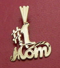 #1 MOM PENDANT REAL SOLID 14 K GOLD 0.8 g